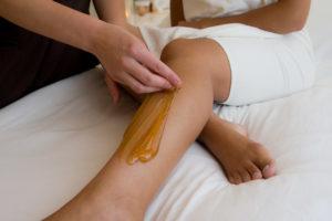 leg sugar wax
